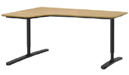 [FURN_1118] Corner Desk Left Sit