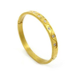 [WK-MP-SEL1-BANGLE1] Gold Plated Bangle1