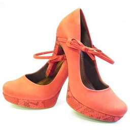 [WK-MP-SEL5-SHOE1] Orange Heel